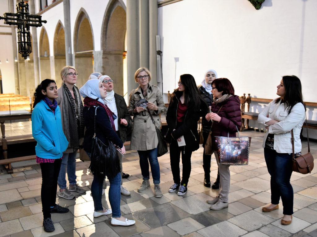 07.04.2017 Münster Besuch Syrische Mädchen